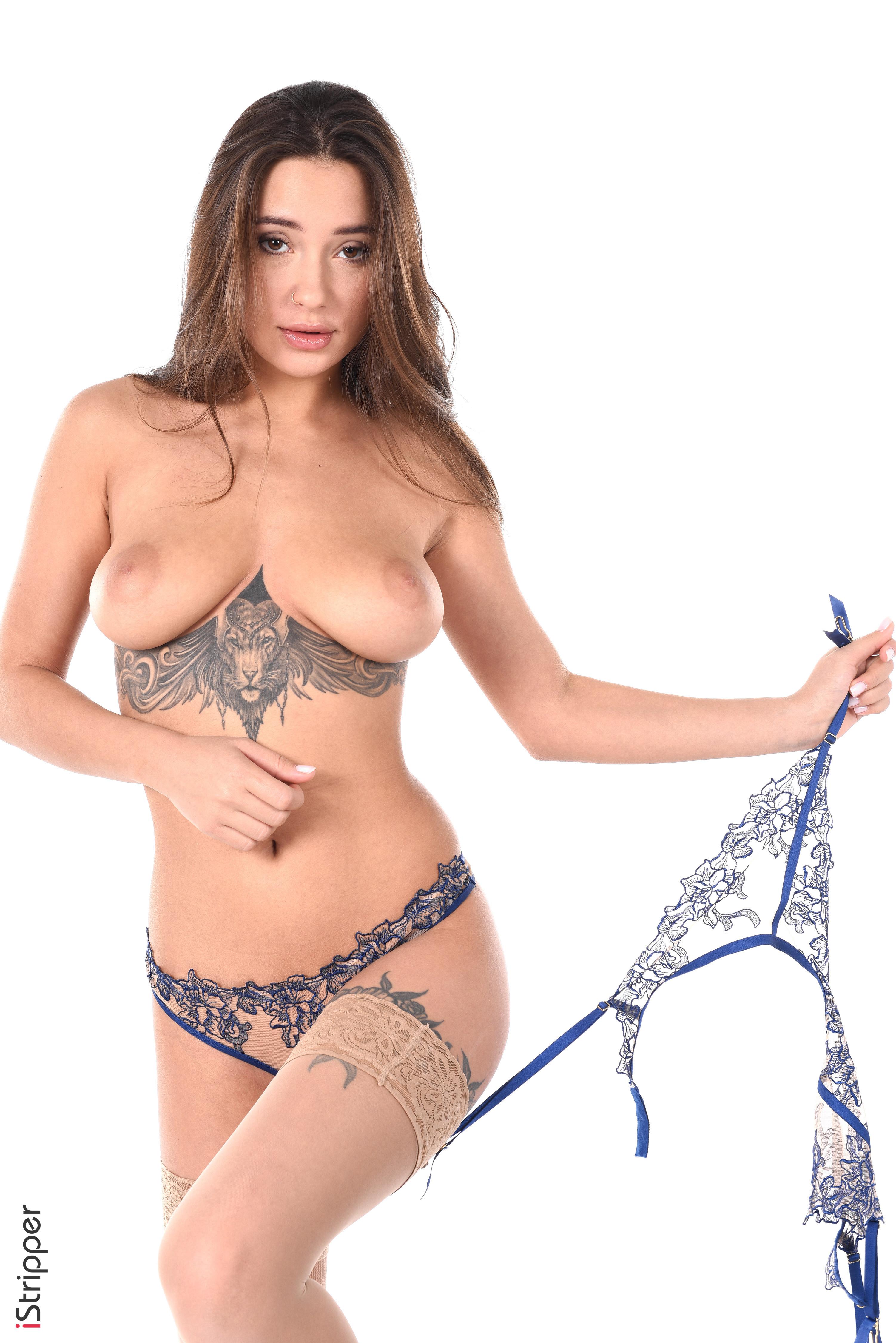 sexy blonde striptease masterbation